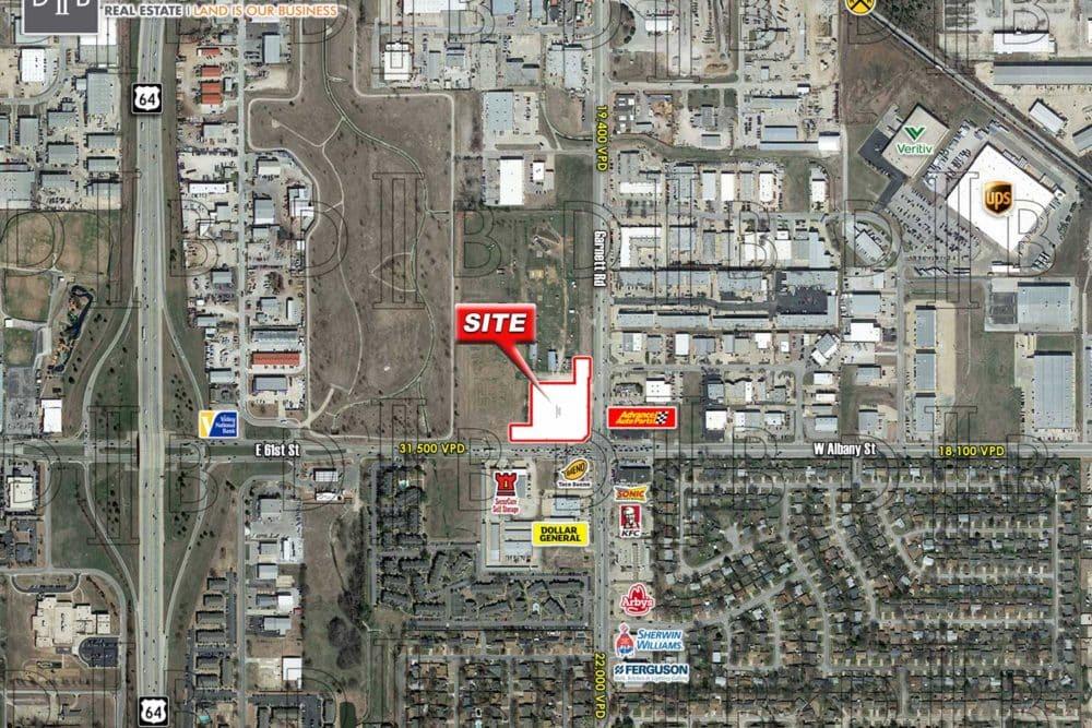 2.468 AC – NWC S. Garnett Road & E. 61st Street – Tulsa, OK