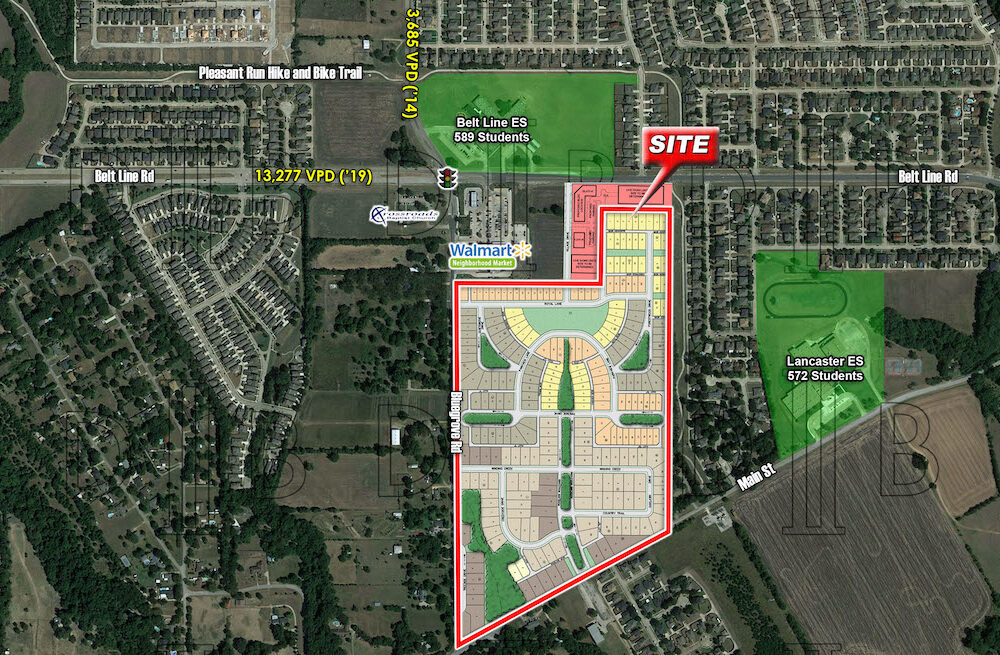 Lancaster – SEQ – W. Belt Line Rd. & N. Bluegrove Rd. (Residential Land For Sale)