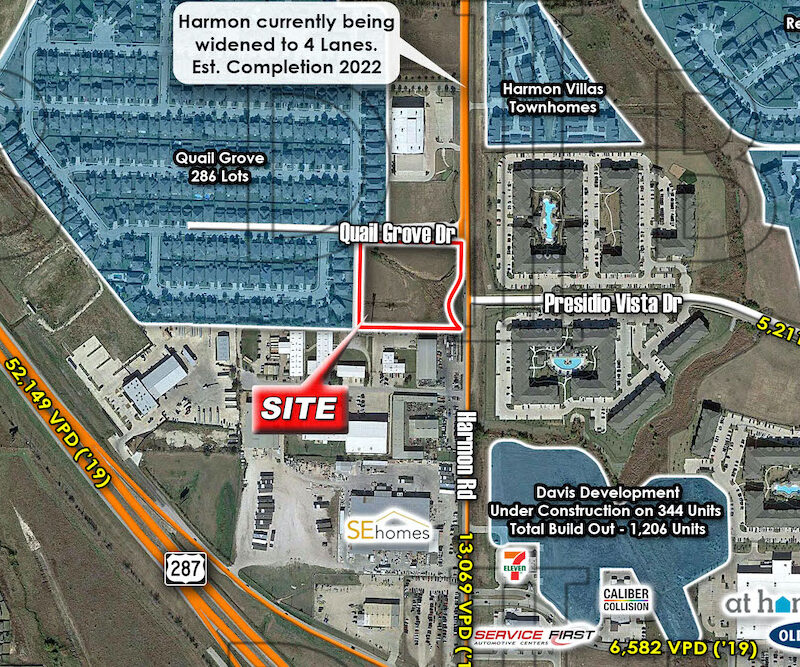 Fort Worth – SWC – Harmon Rd. & Quail Grove Dr.